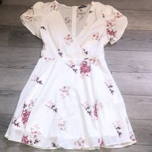 Short sleeve floral summer dress